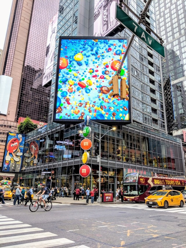 m&M store at times square in new york city