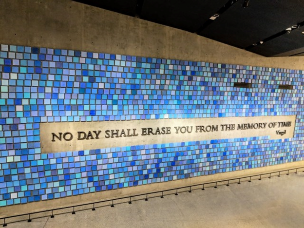 no day shall erase you from the memory of time wall at 9/11 museum