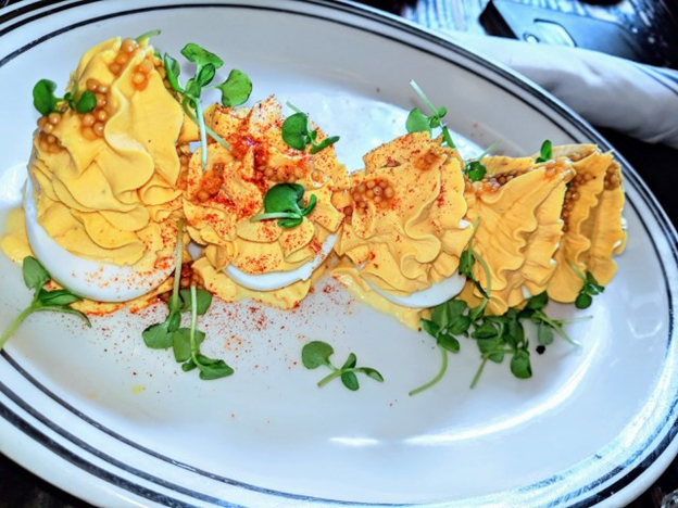 deviled eggs at jacobs pickles