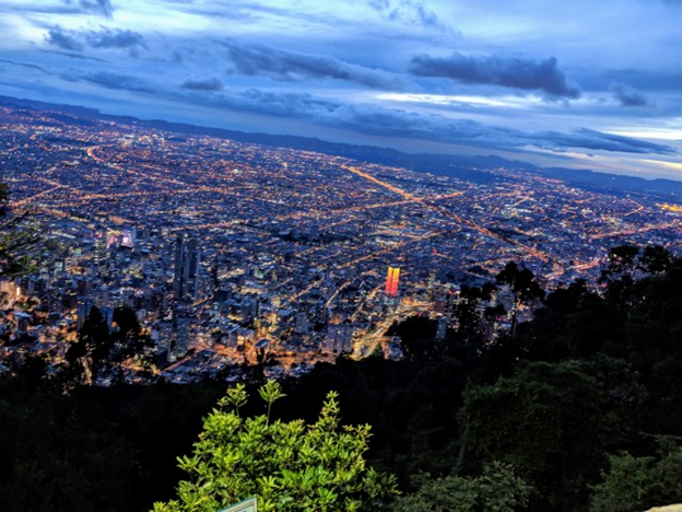 heading to the top of Monserrate at night