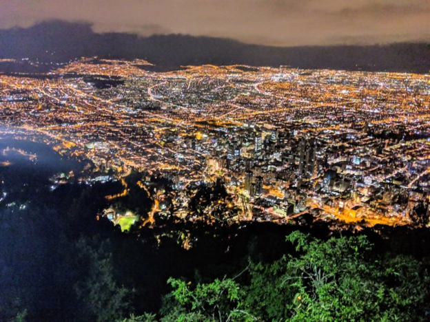 watching the sunset at Monserrate