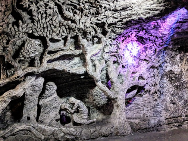 life representation art at Salt Cathedral of Zipaquira