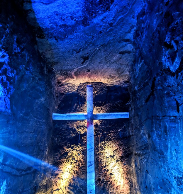 cross representation of Jesus at Salt Cathedral of Zipaquira