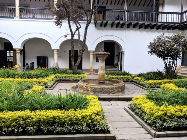 garden outside of botero museum
