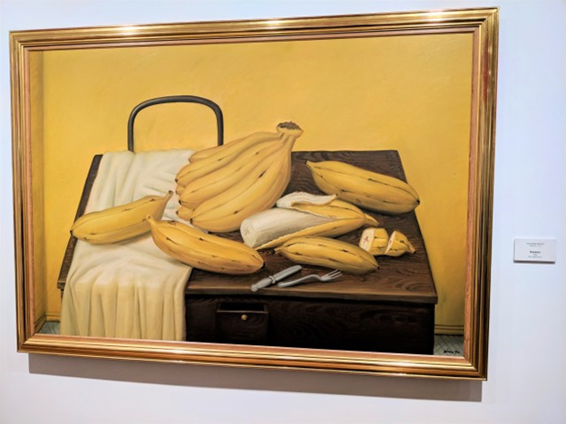 chunky bananas at botero museum