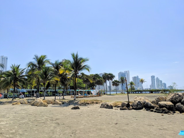 beach side in the back of hilton cartagena